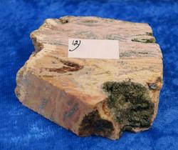 Valtamerijaspis toiselta puolelta hiottu siivu 63x50x20mm 119g nro12