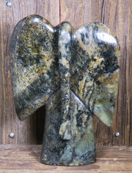 Kiviveistos abstrakti elefantti  1150g serpentiini kivinorsu Muvez19