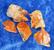 Wulfeniitti raaka oranssi kide n. 1cm, alle1g Marokko