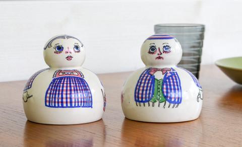 Tanskalaiset Aksini maustesirottimet, Pepparflicka ja Saltgubbe, 1950-luku