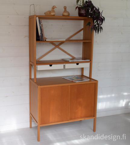 1960-luvun senkki / kirjahylly yhdistelmä, Bodafors
