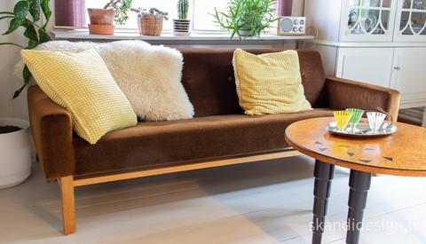 Upea 60-luvun sohva, siisti