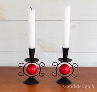 1950-luvun kynttilänjalat, myydään parina