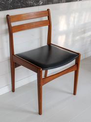 Tanskalaiset design teak tuolit, valmistaja Frem Røjle 60-luvulla, neljä kappaletta
