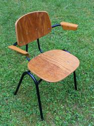 Kaunis 60-luvun tuoli, Kurt Hvitsjö, musta putkirunko / taivutettu vaneri