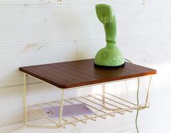 Vintage string puhelinhylly / seinähylly 50 - 60 lukua