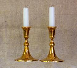 Vanhat messinki kynttilänjalat, myydään parina, Scandia Mässing