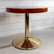 Pyöreä pieni vintagepöytä, laivapöytä, metallijalka