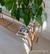 50-luvun rottinki kukkapöytä huurrelasilla, 120 cm