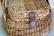 Näppärä kesäkori kahvoilla, paju / rottinki