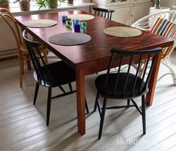 Iso jatkettava ruokapöytä 1960-70 lukua