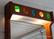 Teak seinäpeili valolla, 1950-60 luku