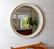 Pyöreä seinäpeili, puukehys