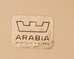Arabia Wärtsilä Finland emali seinälautanen Turunlinna B. Reinhold 1872