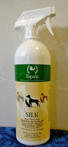 Espana Silk All Natural Protein Detangler/Full Body Sheen/Protectant Spray With Sunscreen 1 L