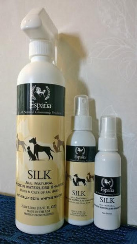 Espana Silk All Natural Protein Waterless Shampoo 125 ml.