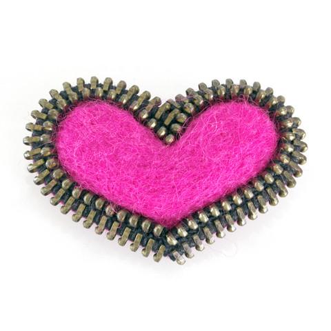Sydän-rintakoru, pinkki