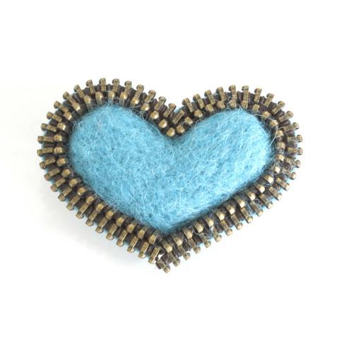 Sydän-rintakoru, turkoosi