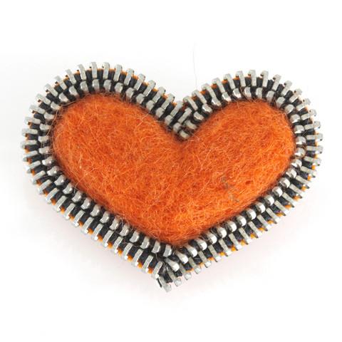 Sydän-rintakoru, oranssi