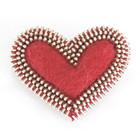 Sydän-rintakoru, punainen