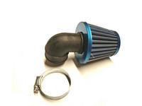 TNT vapaavirtaus ilmansuodatin 90° 28/35mm, sininen