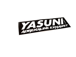 Yasuni Adrenaline Exhaust tarra 11,5cm x 3,5cm