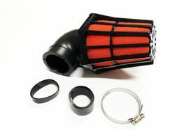 TNT R-EVO ilmansuodatin 28/35mm 90°, punainen