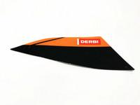 Takakatteen tarra (musta, oikea), Derbi Senda X-Treme 18->
