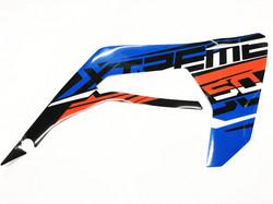 Etukatteen tarra (sininen, oikea), Derbi Senda X-Treme 18->