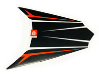 Takalipan tarra (puna/valko/musta, oikea), Derbi Senda DRD X-Treme 10-17