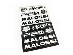 Malossi tarra-arkki hopea/musta 11,5x16,8cm