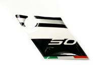 Penkin aluskatteen tarra (vasen, puna/musta), Aprilia RX/SX 06-17