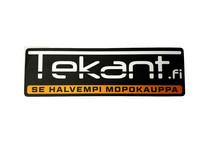 Tekant.fi tarra, musta/oranssi 10cm x 3cm