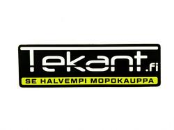 Tekant.fi tarra, keltainen 10cm x 3cm