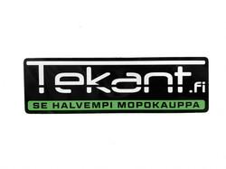 Tekant.fi tarra, vihreä 10cm x 3cm