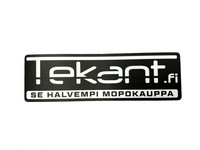 Tekant.fi tarra, musta/valko 10cm x 3cm