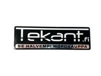 Tekant.fi tarra, musta/chrome 10cm x 3cm