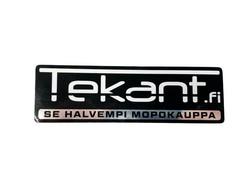 Tekant.fi tarra, chrome 10cm x 3cm
