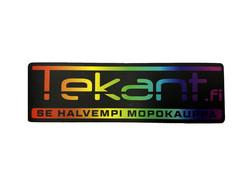 Tekant.fi tarra, sateenkaari 10cm x 3cm