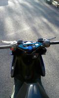 STR8 skootterin tanko, matta vaaleansininen