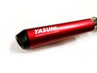 Yasuni R2 tehopakoputki, punainen, Minarelli AM6/Derbi Senda