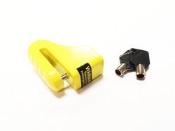 Levyjarrulukko Ø10mm/96mm, keltainen