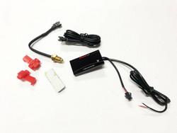 Koso Super Slim LED lämpömittari 0-120°C, punainen
