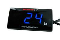 Koso Super Slim LED lämpömittari 0-120°C, sininen