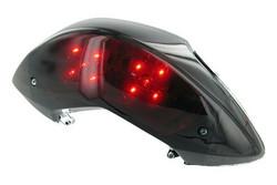 STR8 Black Line tummennettu LED-takavalo, Yamaha Jog