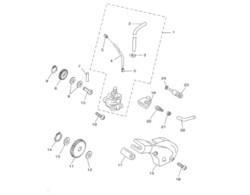 Vesi-/öljypumpun ratas 13/24H, Minarelli AM6