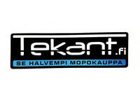 Tekant.fi tarra, musta/sininen 10cm x 3cm