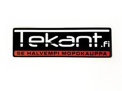 Tekant.fi tarra, punainen 10cm x 3cm