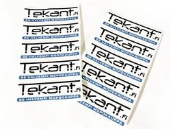 Tekant.fi tarra, valkoinen 10cm x 3cm