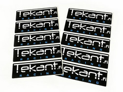 Tekant.fi Racing tarra, musta 10cm x 3cm